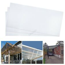 More details for birchtree 4mm polycarbonate sheet 14pcs greenhouse panels solid glazing clear