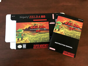 Super Nintendo SNES THE LEGEND OF ZELDA BS MAPS 1 AND 2 box + manual only