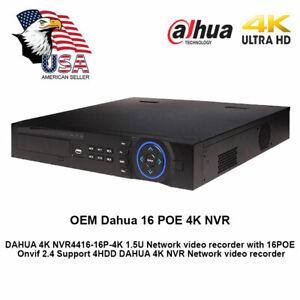 Dahua OEM 4K 16CH NVR 1.5U 16POE UPnP H.265 Network Video Recorder
