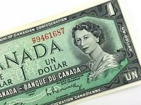1967 Centennial Canada 1 Dollar HP Circulated Beattie Rasminsky Banknote N284