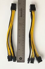 Set of 2 PCI-E 8-pin to 2x 6+2-pin Power Splitter Cable PCIe PCI Express - Pair