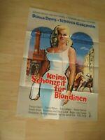 Keine Schonzeit für Blondinen-Diana Dors-V.Gassman Orginal A1 Kinoplakat EA