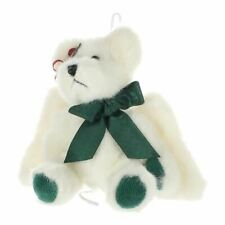New ListingBoyds Bears & Friends Vintage Plush Bear white winged bear green feet and bow