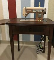 Antique/Vintage Stradivaro Sewing Machine w/ Built-In Desk - Just Tuned/Oiled!