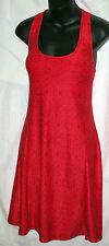MPG Mondetta Medium Red Print Racerback Active/AthleticTennis Dress With Bra