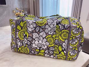 NWOT Vera Bradley Citron  large Duffel  cotton Travel  yellow Bag
