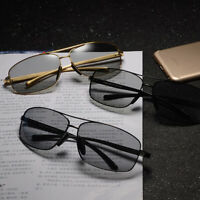 Photochromic Sunglasses Mens Transition Lens Aluminum Leg HD Polarized Eyewear