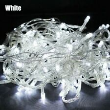 10m 32ft 100 LED White Garden Indoor Outdoor String Lights Fairy Waterproof