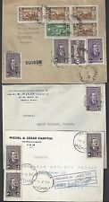 LEBANON 1930's THREE COVERS INCLUDES POST CARD TRIPOLI LIBAN & TWO COVERS BEIRUT
