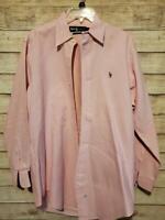 Ralph Lauren Polo Men's Pink  Dress Shirt Button Down Size 15-32/33 Mint!