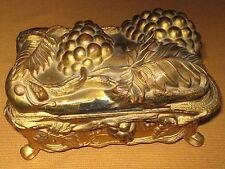 Antique COON 330 Metal Casket Jewelry Trinket Box
