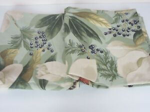 Pottery Barn (2) Euro Pillow Shams Southern Magnolia Floral Berries Romantic NEW