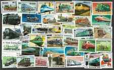 Railways-Trains 100 all different stamps collection