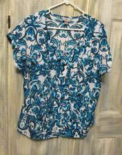 Worthington Blouse/ Top- Size PXL - Multi Colors W/ Floral Designs