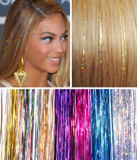 """40"""" HAIR Tinsel Bling EXTENSIONS Sparkly Highlights Streak Frozen Xmas New Year"""