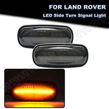 Smoked LED Side Marker Light Lamp For Land Rover Discovery 2 Defender Freelander
