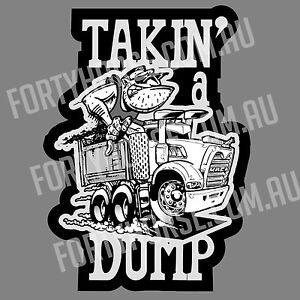 Trucks Vinyl Stickers - Mack Takin' a Dump
