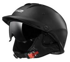 LS2 Helmets Rebellion Sun Shield Motorcycle Half Helmet - Matte Black 590-101