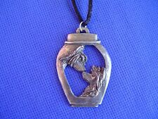 Chinese Crested Nose To Nose necklace Ming Jar #22P Pewter by Cindy A. Conter