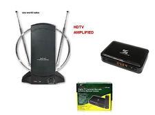 Sunkey Digital to Analog Converter Box W/ Remote+Amlified TV Antenna Package New