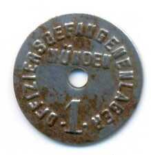 Germany WWI German Prisoners Officers Camp Münden Notgeld Iron Coin 1 Pfennig VF