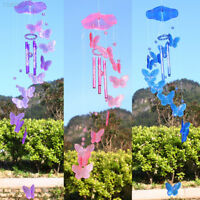 7447 Crystal Butterfly Wind Chime Bell Garden Ornament Lucky Gift Hanging Decor