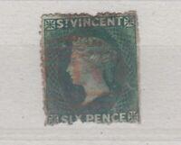 St Vincent QV 1871 6d Green SG16 Spacefiller J6195