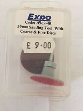 30mm Sanding Tool With Coarse And Fine Discs