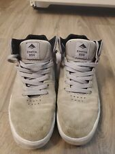 Emerica Hsu G6 Grey & White Suede Skate Shoes Size 9 excellent condition