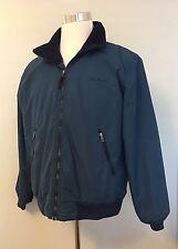 Vtg L.L. Bean Warm Up Fleece Lined Jacket Blue Coat Mens Sz M Made in USA