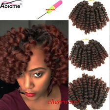 "8"" Ombre Jumpy Wand Curl Bouncy Twist Crochet Braids Synthetic Hair Extensions"