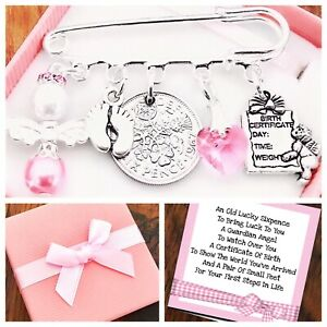 LUCKY SIXPENCE, NEW BABY, Newborn Gift, GIRL/BOY Gift Box & Gift Card
