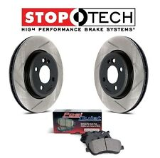 For Volvo C70 98-04 S70 V70 850 Rear Slotted Brake Rotors+Pads Set StopTech