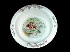 "Royal Albert China Beatrix Potter Mr Jeremy Fisher Child's Bowl 6 ¼"" 1986"