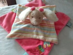 Noukies comfort blanket soother pink and multi coloured