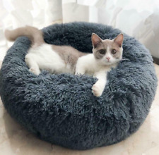 HOT ITEM Long Plush Donut Beds for Cats and Dogs Super Soft Fluffy Cushion Pets