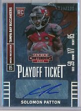 SOLOMAN PATTON - 2014 Contenders Rookie PLAYOFF Ticket SP AUTO /199 Buccaneers