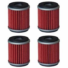 Oil Filter Filters for 03-17 Yamaha WR250F WR250X WR450F XT250 YZ250F YZ450F x 4