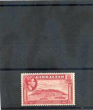 GIBRALTAR   Sc 109b(SG 123a)*VF LH PERF 13 1/2, SIGNED, $500