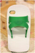 cover morbida Iphone 4/4s forma di ciabatte verde e bianco