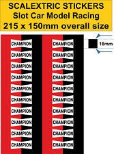 Slot car Scalextric sticker Model Race Champion Logo Lego self adhesive vinyl 16