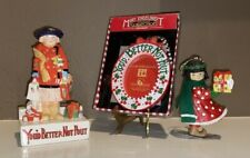 """Vintage Mary Engelbreit Lot~Christmas~""""You'd Better Not Pout"""" Figurine~Ornaments"""