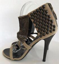 Women's Balmain Sexy Metal Mesh Studded Suede High Heel Shoe size EU38 US8