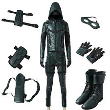 Original Green Arrow Season 5 Oliver Queen Cosplay Costume Full Suit All Size
