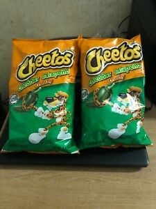 2 X CHEETOS CHEDDAR JALAPENO CRUNCHY 2 LARGE BAGS 226g  UK SELLER - IMPORTED USA