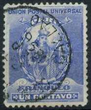 Peru 1896-1900 SG#335, 1c Ultramarine, Atahualpa Used #E1248