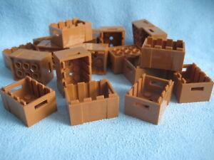 18 Lego Kisten Kiste Holzkiste 3x4x1 2/3 hellbraun medium nougat Box 30150 Neu