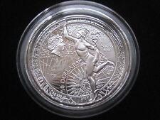 """Mds Niue Iceland 50 Dollar 2013 Pf / Proof """" Mercury - Fortuna Redux """",Silver 6"""