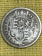 More details for very rare george iii silver shilling 1820 with s over i in honi.