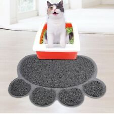 litter Mat Cat Paw Shape Claw Dish Feed Bowl Tray Tidy Waterproof Clean Pvc Pad
